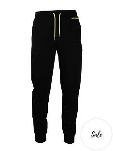 karl-lagerfeld-neon-logo-joggers-black