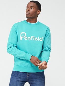 penfield-capen-logo-sweatshirt-teal