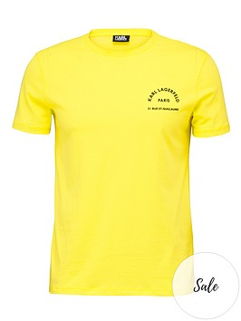 karl-lagerfeld-address-chest-logo-t-shirtnbsp--yellow