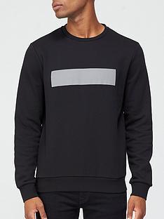 karl-lagerfeld-reflective-logo-sweatshirt-black