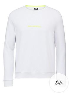 karl-lagerfeld-neon-logo-sweatshirtnbsp--white