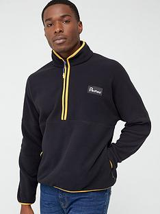 penfield-melwood-14-zip-fleece-black