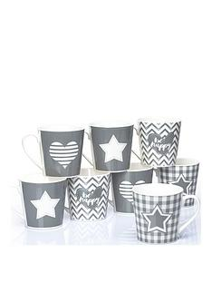 waterside-set-of-8-grey-star-and-heart-mugs