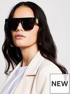 river-island-river-island-tortoiseshell-visor-sunglasses
