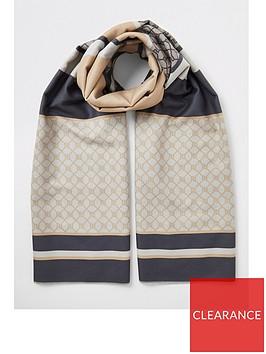 river-island-river-island-monogram-woven-scarf-beige