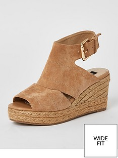 river-island-wide-fit-peep-toe-wedge-sandal-beige