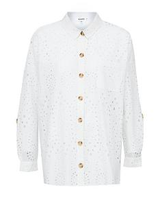 missguided-broderie-angalise-beach-shirt-white