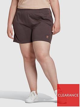 adidas-originals-new-neutral-3-stripes-plus-size-shorts-dark-brown