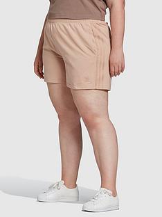 adidas-originals-new-neutral-3-stripes-plus-size-shorts-nude