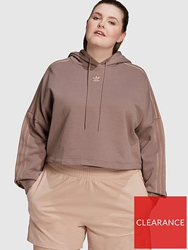 adidas-originals-new-neutral-cropped-hoodie-plus-size-dark-brown