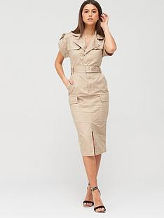 river-island-utility-midi-dress-beige