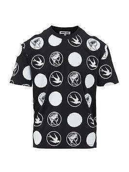 mcq-alexander-mcqueen-all-over-swallow-polka-dot-t-shirt-black
