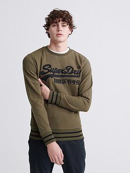 superdry-vintage-label-embroidered-crew-sweatshirt-khaki