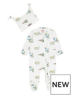 cath-kidston-baby-boys-2-piece-dino-sleepsuit-and-hat-ivory