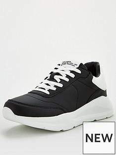 river-island-wedge-sole-trainers-black