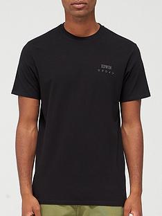 edwin-chest-logo-t-shirt-black
