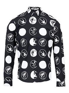 mcq-alexander-mcqueen-all-over-swallow-polka-dot-shirt-black