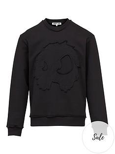 mcq-alexander-mcqueen-monster-applique-sweatshirt-black