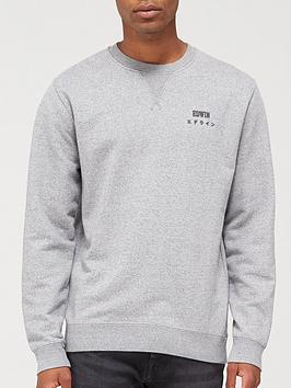 edwin-base-crew-chest-logo-sweatshirt-grey