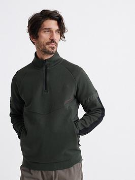 superdry-urban-tech-half-zip-track-top-green