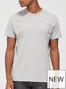edwin-chest-logo-t-shirt-grey
