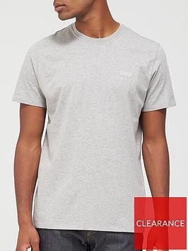 edwin-chest-logo-t-shirt-grey