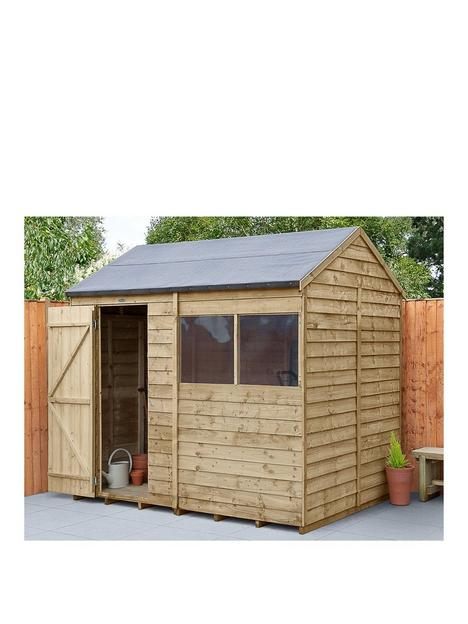 forest-8x6-overlap-pressure-treated-reverse-apex-shed-with-optional-installation