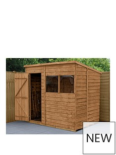 forest-7x5-value-dip-treated-overlap-pent-shed-with-double-doors
