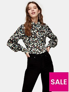 topshop-twist-neck-oriental-blouse-multi