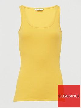 v-by-very-basic-rib-vest-yellow