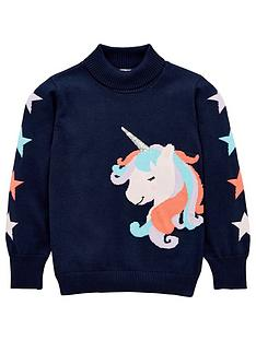 v-by-very-girls-unicorn-jumper-navy
