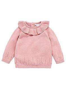 v-by-very-girls-ruffle-neck-jumper-pink