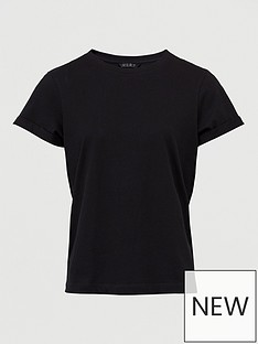 v-by-very-the-roll-sleeve-boyfriend-tee-black