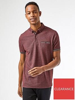 burton-menswear-london-texture-polo-shirt-burgundy