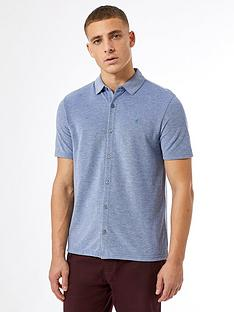 burton-menswear-london-short-sleeve-pique-shirt-ndash-blue