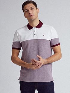 burton-menswear-london-cut-and-sew-polo-shirt-ndash-burgundy