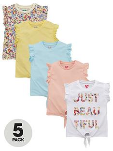 v-by-very-girls-5-pack-beautiful-short-sleeve-floral-t-shirts-multi
