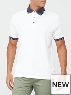 burton-menswear-london-jacquard-collar-polo-shirt-white