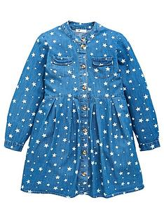 v-by-very-girls-denim-star-dress-blue