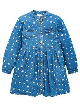 v-by-very-girls-denim-star-dress-blue