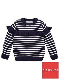 v-by-very-girls-striped-frill-jumper-navy