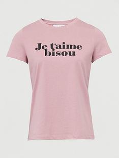 v-by-very-je-taimenbspprint-slogan-t-shirtnbsp--blush