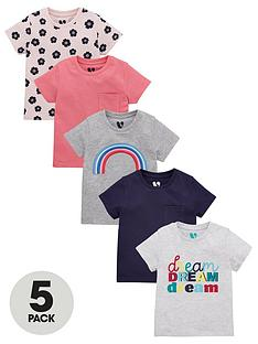 v-by-very-girls-5-pack-embroidered-rainbow-t-shirts-multi
