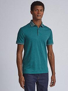burton-menswear-london-jacquard-collar-polo-shirt-ndash-green