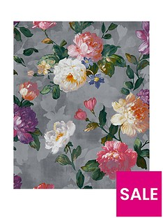 superfresco-easy-isabelle-grey-floral-wallpaper