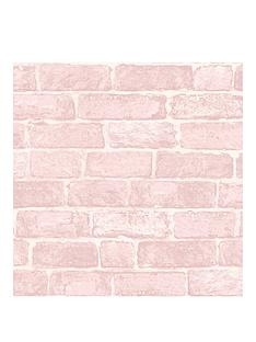 fresco-pink-brick-wallpaper