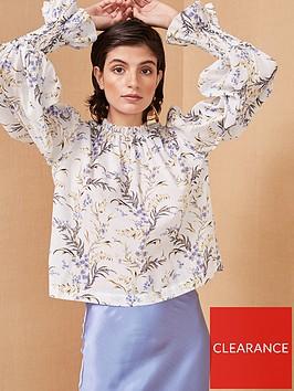 bec-bridge-lavender-bay-floral-print-blouse-white