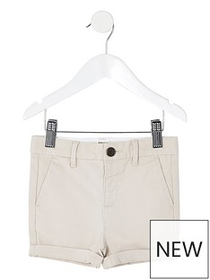 river-island-mini-mini-boys-chino-short--stone