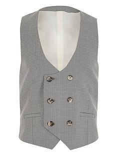 river-island-boys-check-double-breasted-check-waistcoat-grey
