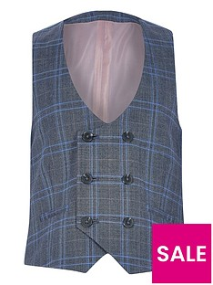 river-island-boys-check-double-breasted-waistcoat-blue